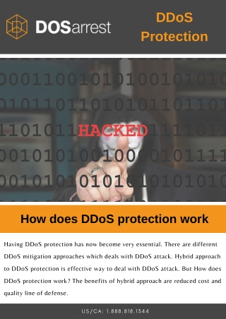 How does DDoS protection work