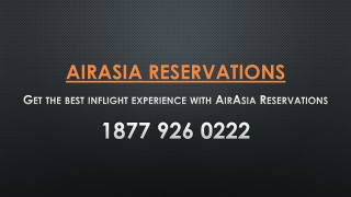 Get the best inflight experience with AirAsia Reservations