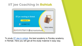 IIT coaching classes Rohtak