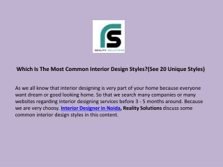 Which Is The Most Common Interior Design Styles?(See 20 Unique Styles)