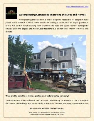 Waterproofing Companies Improving the Lives and Homes