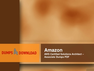 Valid And Updated AWS SAA Exam Certifications Dumps Questions - Dumps4Download.us