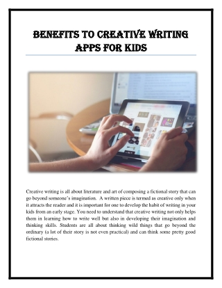 Best Writing Apps for Kids