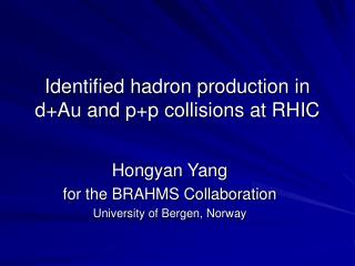 Identified hadron production in d+Au and p+p collisions at RHIC