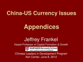 China-US Currency Issues Appendices