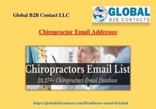 Chiropractor Email Addresses