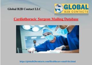 Cardiothoracic Surgeon Mailing Database