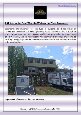A Guide to the Best Ways to Waterproof Your Basement