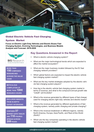 Electric Vehicle Fast Charging System Market Survey
