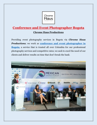 Conference and Event Photographer Bogota with Chrome Haus Productions
