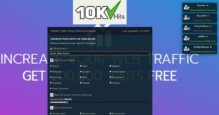 10KHits Traffic Exchanger Points Online Generator 2019