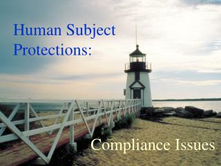 Human Subject Prot ections: