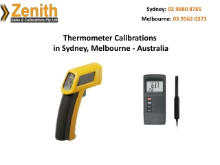 Thermometer Calibrations in Sydney, Melbourne – Australia