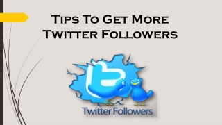 How to get more Twitter Follower