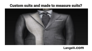 How to choose between custom suits and made to measure suits?