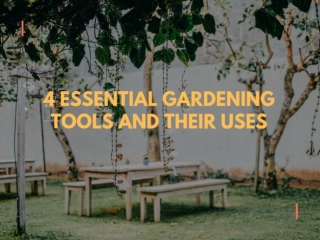 4 Essential Gardening Tools and their Uses