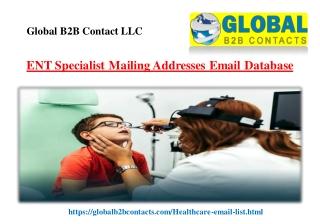ENT Specialist Mailing Addresses Email Database