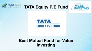 Tata Equity P/E Fund - A Brief Overview