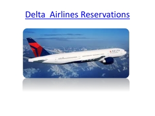 Book Cheap Flights from Delta Airlines Reservations