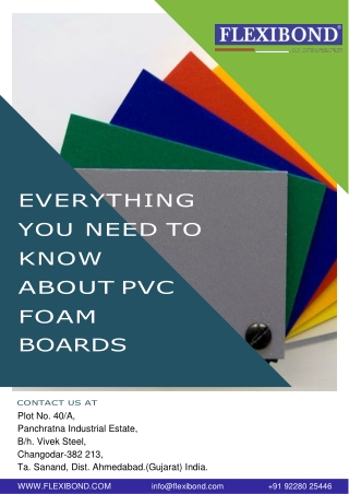 Everything You Need to Know about PVC foam boards