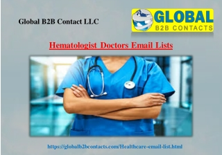 Hematologist Doctors Email Lists