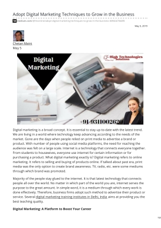 Why Digital Marketing Training Is Important