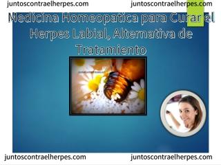 Medicina Homeopatica para Curar el Herpes Labial, Alternativa de Tratamiento