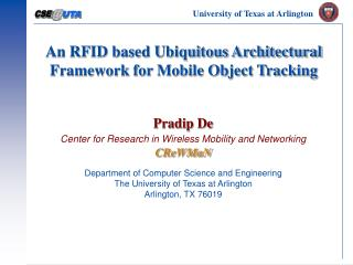 An RFID based Ubiquitous Architectural Framework for Mobile Object Tracking