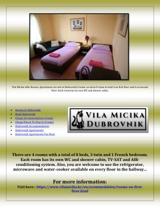 Cheap Accommodation Croatia