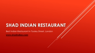 Shad Indian restaurant | Best Indian Restaurant in Borough London SE1