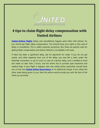 4 tips to claim flight delay compensation with United Airlines