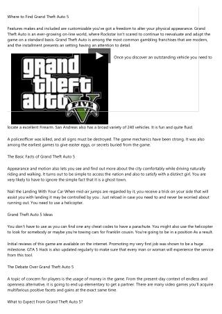 Ruthless Grand Theft Auto 5 Strategies Exploited