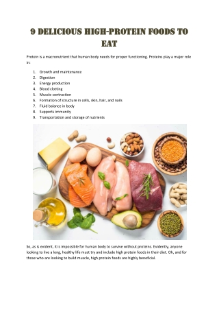 Delicious High-Protein Foods to Eat