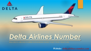 Book Flights by Delta Airlines Number With Low Fare
