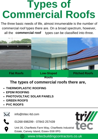 Types of Commercial Roofs