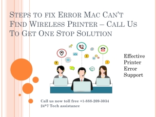 Sterps to fix error Mac Printer Is not Connected | Solve Mac Can't Find Wireless Printer