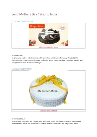 Mothers Day Cakes 2019