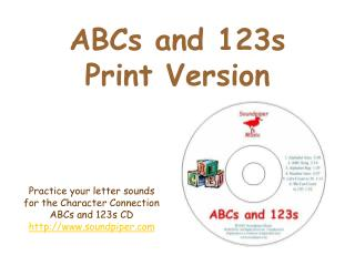 ABCs and 123s Print Version
