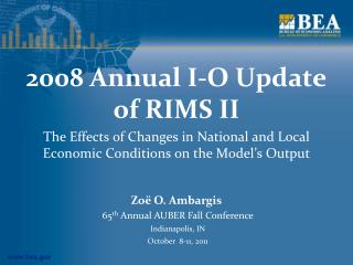 2008 Annual I-O Update of RIMS II