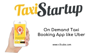 On Demand Taxi Booking App like Uber