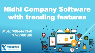 Nidhi Company Software Features
