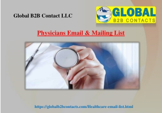 Physicians Email & Mailing List