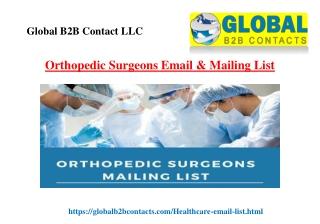 Orthopedic Surgeons Email & Mailing List
