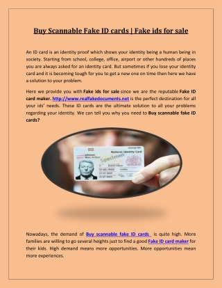 Buy Scannable Fake ID cards | Fake ids for sale