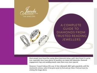 A Complete Guide to Diamonds from Trusted Reading Jewellers