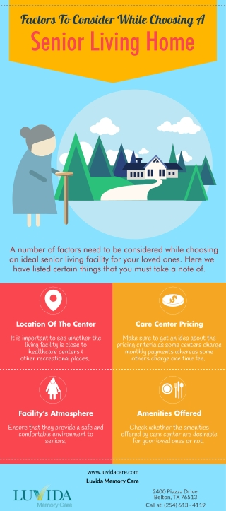 Factors To Consider While Choosing A Senior Living Home