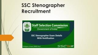 SSC Stenographer Recruitment 2018 - Get SSC Steno 2018-19 Jobs Exam Date