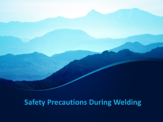 Safety Precautions During Welding