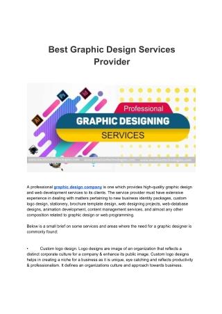 Best Graphic Design Services Provider