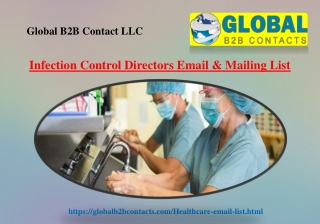 Infection Control Directors Email & Mailing List